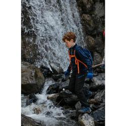 Softshellhose Wandern MH550 Kinder schwarz