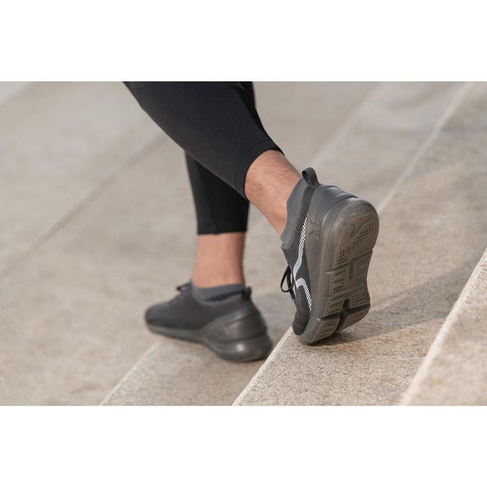 PW 100 men's fitness walking shoes dark grey - 1496034