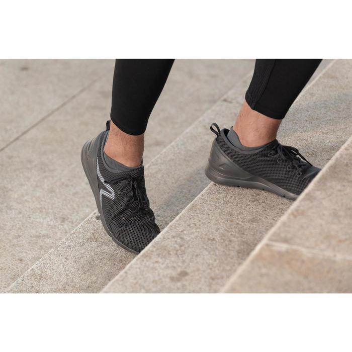 PW 100 men's fitness walking shoes dark grey - 1496036