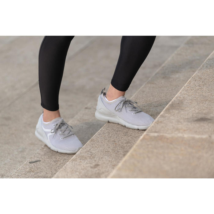PW 100 women's fitness walking shoes light grey