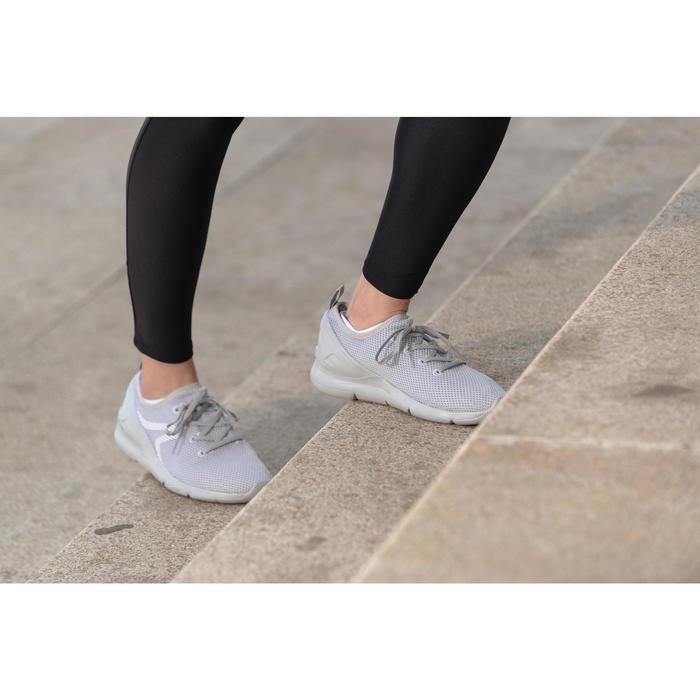 女款健走鞋PW 100淺灰色