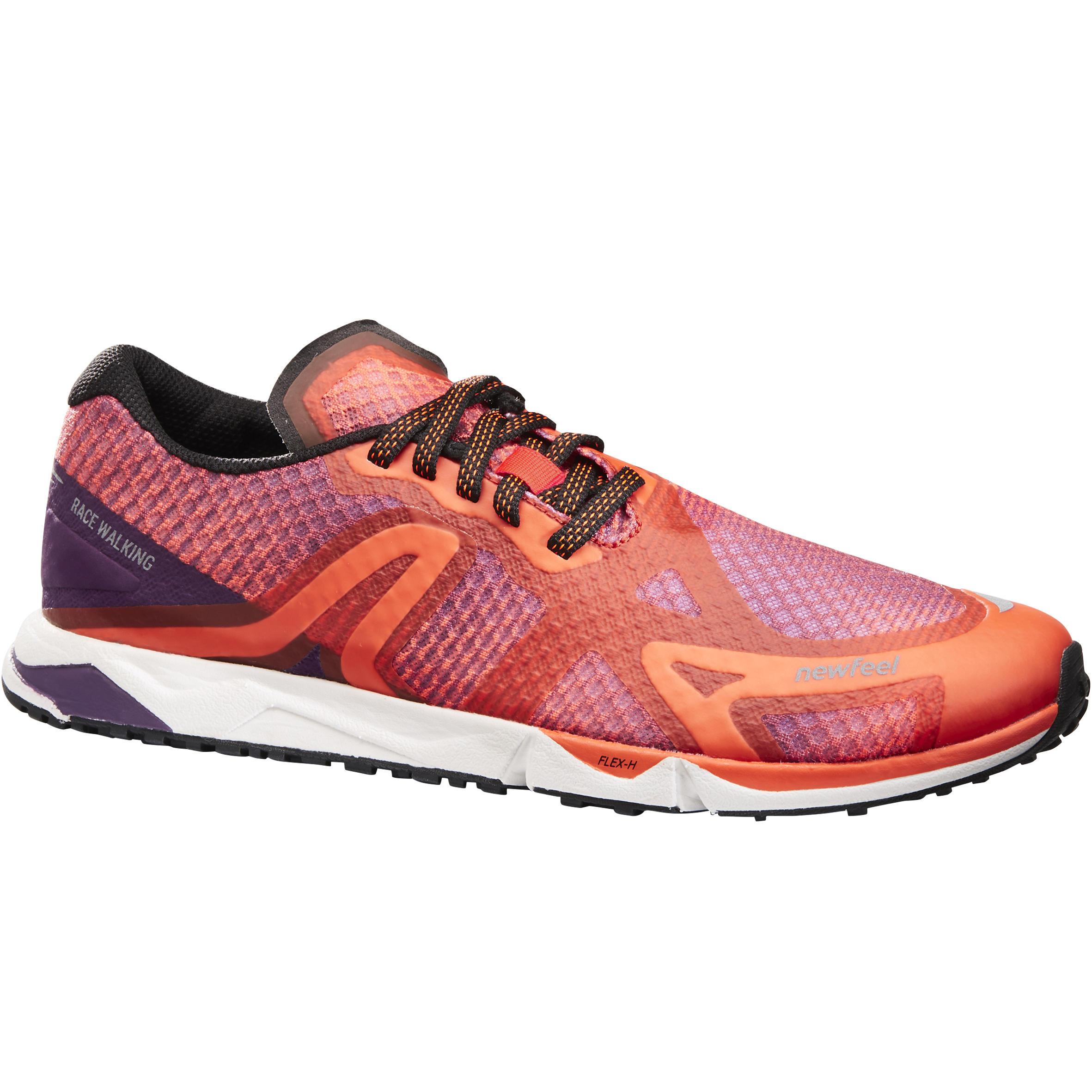Chaussures de marche athlétique RW 900 violet et orange - Newfeel