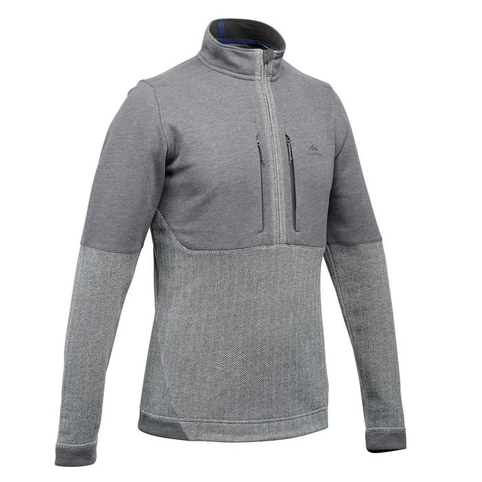 Jersey de senderismo en la naturaleza hombre NH500 gris