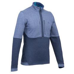 NH500男款健行套頭衫-海軍藍