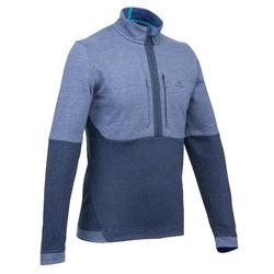 Pull randonnée nature homme NH500 marine