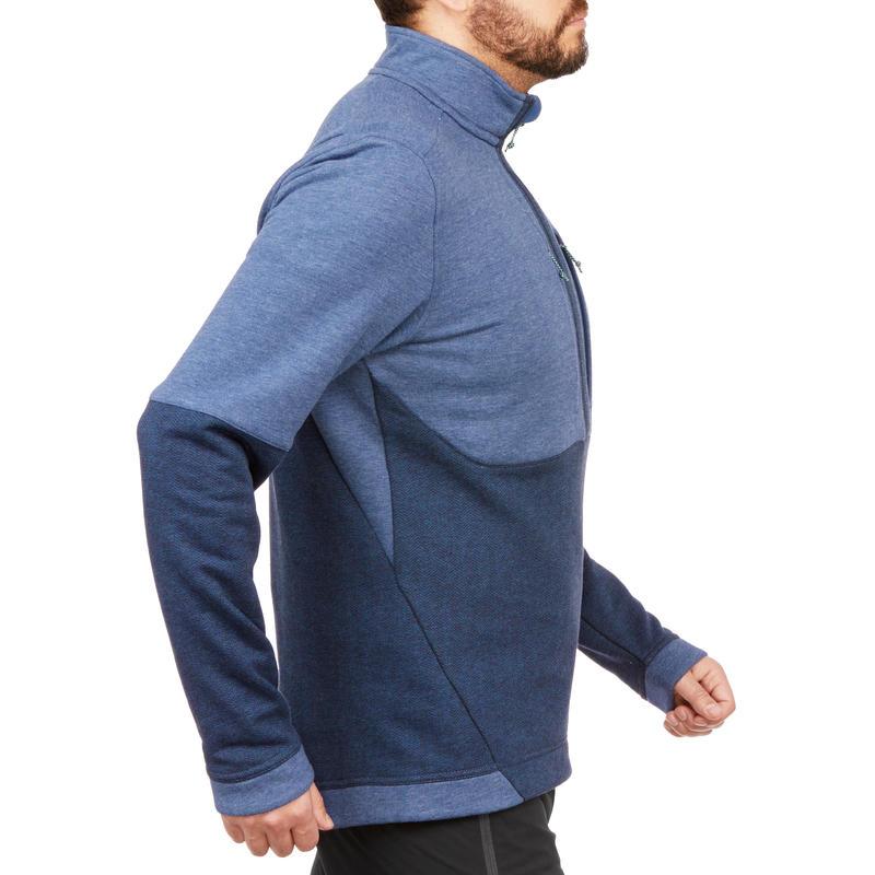 Sweater Montaña Senderismo Quechua NH500 Hombre Azul Marino