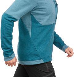 男款健行套頭衫 NH500 -藍綠色