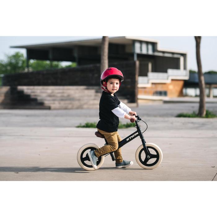 Bicicleta sin pedales infantil10 pulgadas RunRide 520 Cruiser negro