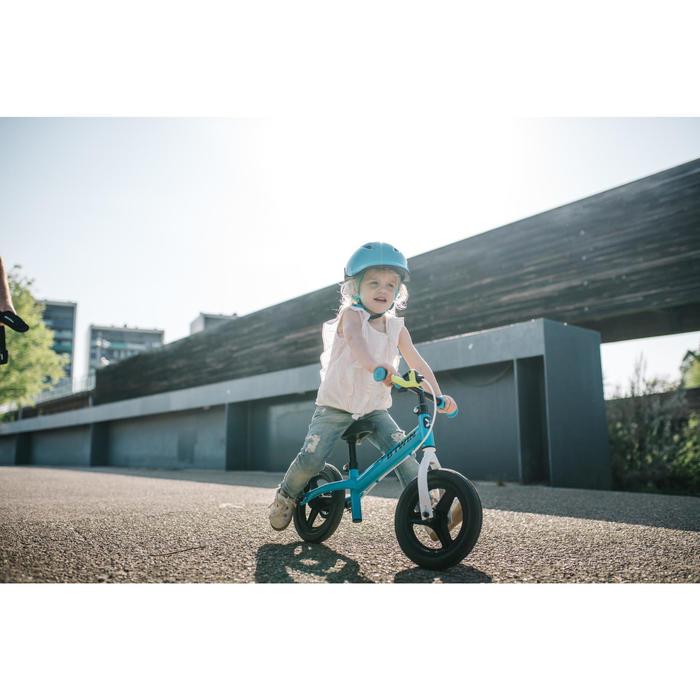 Bicicleta sin pedales para niños 10 pulgadas RunRide 500 azul verde