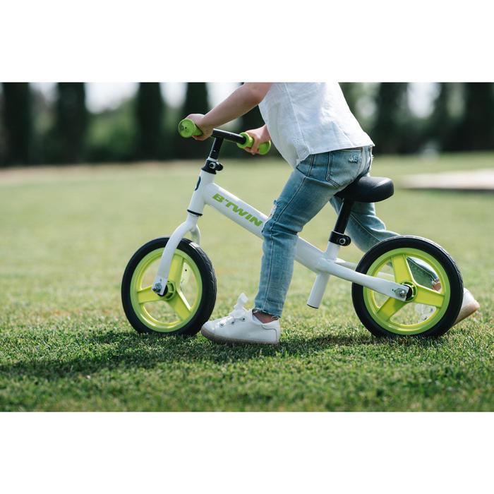 Bicicleta sin pedales infantil 10 pulgadas Run Ride 100 Blanco