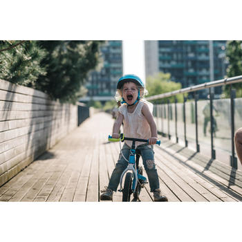 Loopfietsje voor kinderen 10 inch RunRide 500 blauw groen