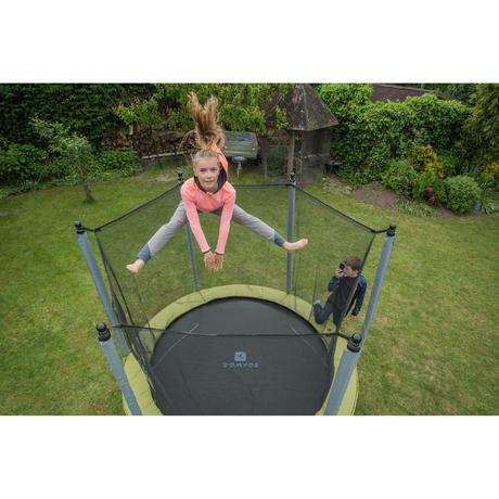 trampoline essential 240 vert filet de protection domyos by decathlon. Black Bedroom Furniture Sets. Home Design Ideas