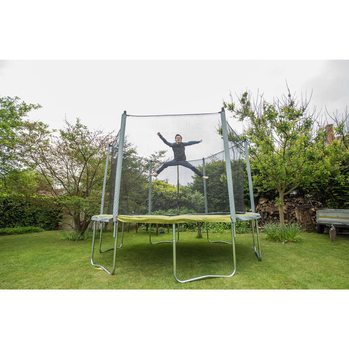 Trampoline ESSENTIAL 365 vert + filet de protection