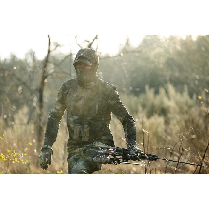 Jagdjacke Geräuscharm Warm Atmungsaktiv 900 Camouflage Furtiv