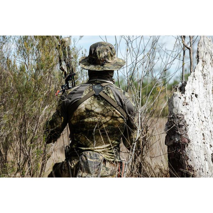 Geluidloos en ademend camouflageshirt 900 merinowol Furtiv