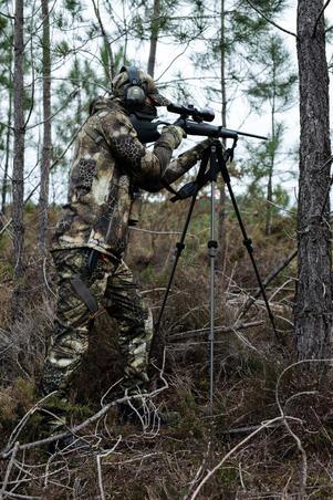 Veste chasse Silencieuse Chaude Respirante 900 camouflage Furtiv