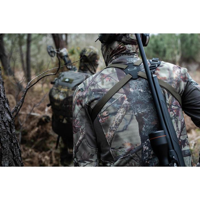 Jagdjacke BGS500D Geräuscharm Warm Atmungsaktiv braun camouflage