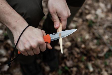 SIKA 100 GRIP Fixed-Blade Knife - Orange