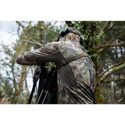 狩獵靜音透氣外套500-樹林迷彩