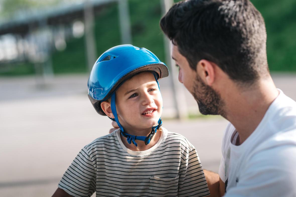 chute à vélo rassurer l enfant