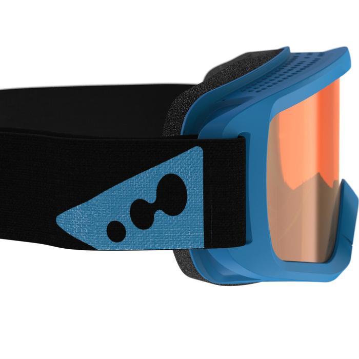 Ski- en snowboardbril volwassenen/kinderen G 120 zonnig weer blauw