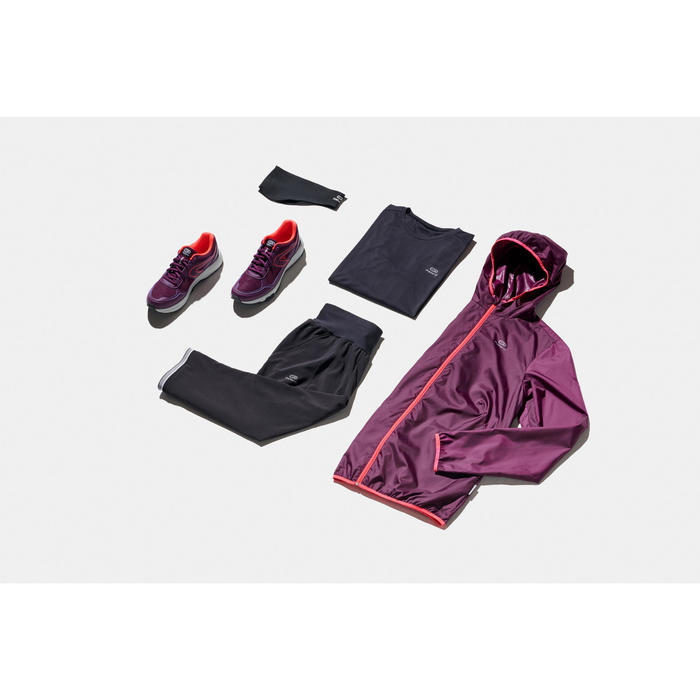Hardloopdriekwartbroek voor dames Run Dry zwart