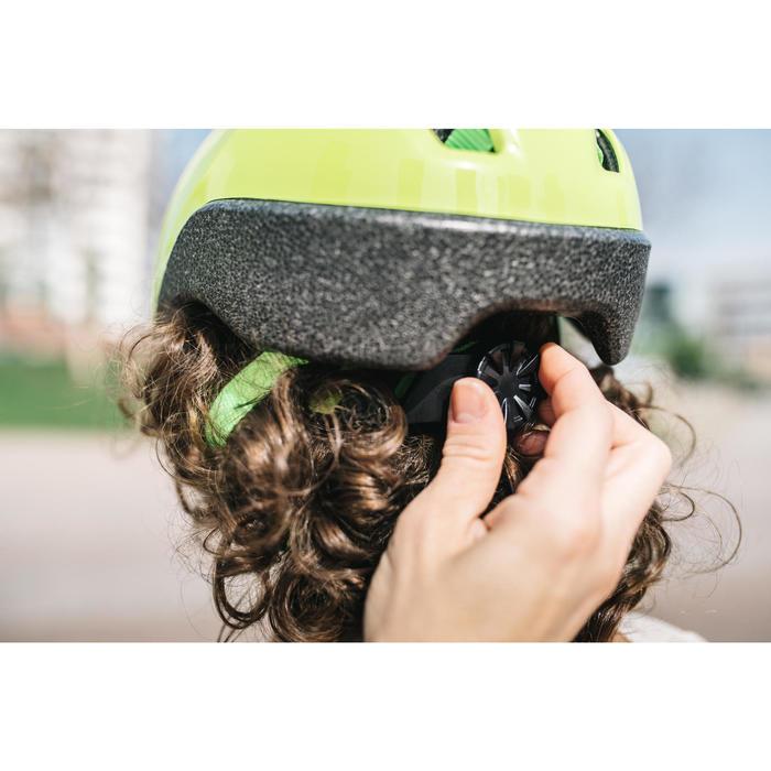 Fahrradhelm Kinder 500 neongrün