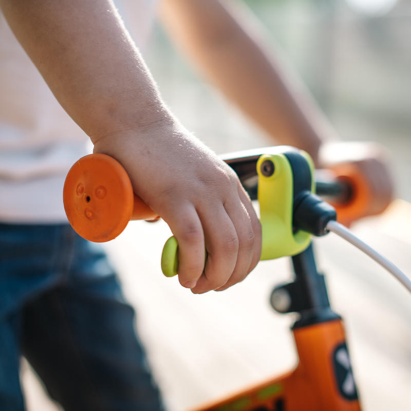 Bicicleta sin pedales para niños,de 10 pulgadas Run Ride Naranjo