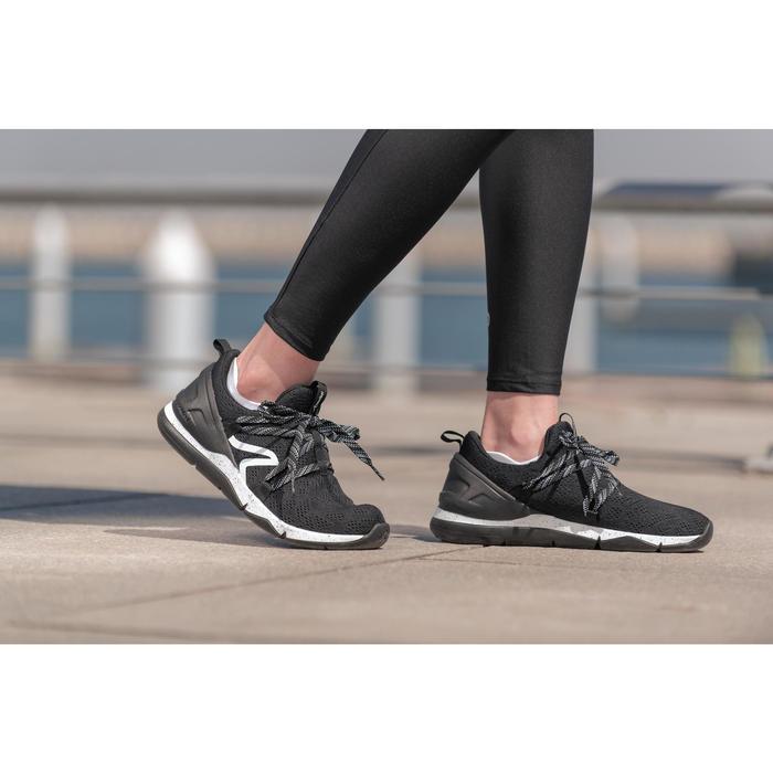 Damessneakers voor sportief wandelen PW 140 zwart / wit