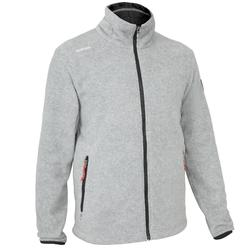 Men's Sailing Water Repellent Fleece Sailing RACE 100 - Grey