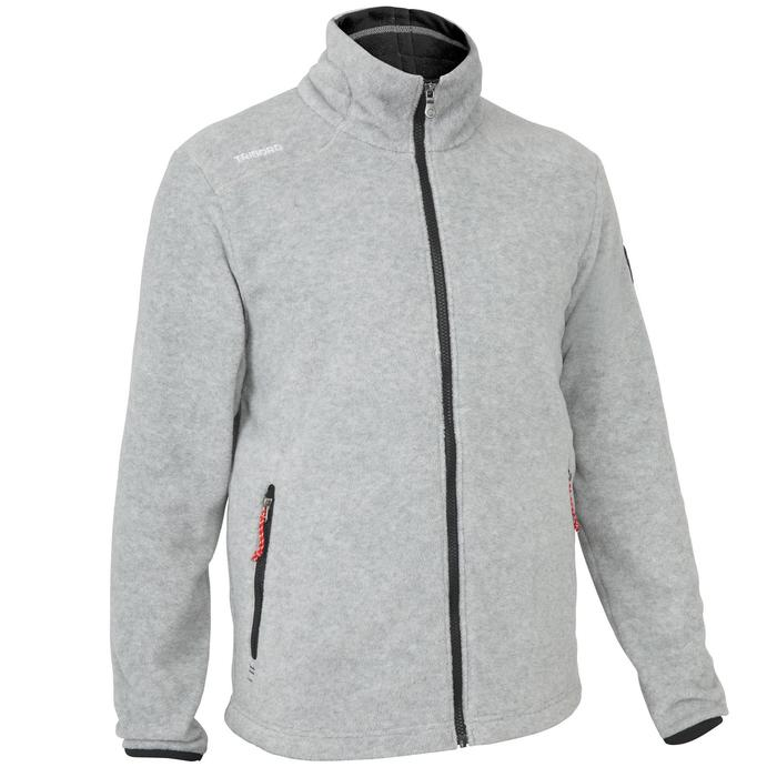 男款航海防潑水刷毛外套RACE 100-灰色