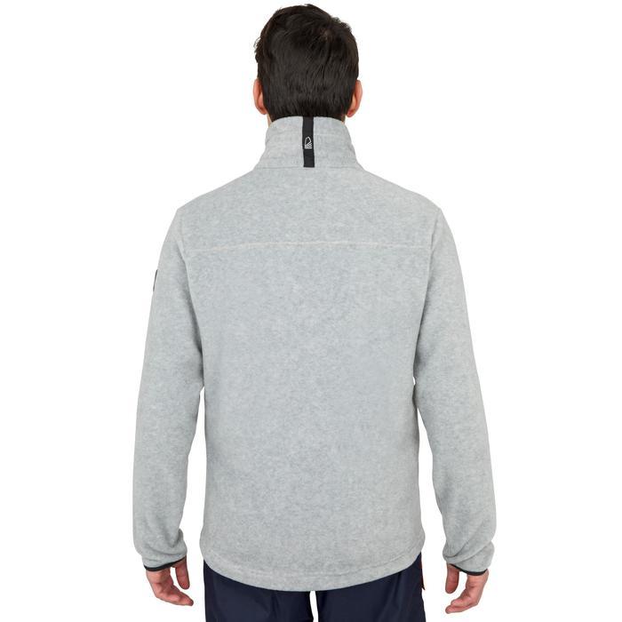 Warme fleece voor zeilen heren Sailing 100 gemêleerd grijs