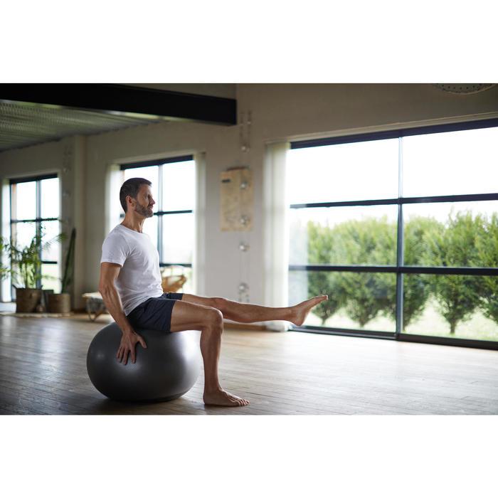 Camiseta Manga Corta Gym Pilates Domyos 100 Regular 100% Algodón Hombre Blanco
