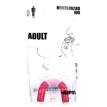 R100 Adult Rugby Mouthguard - Red