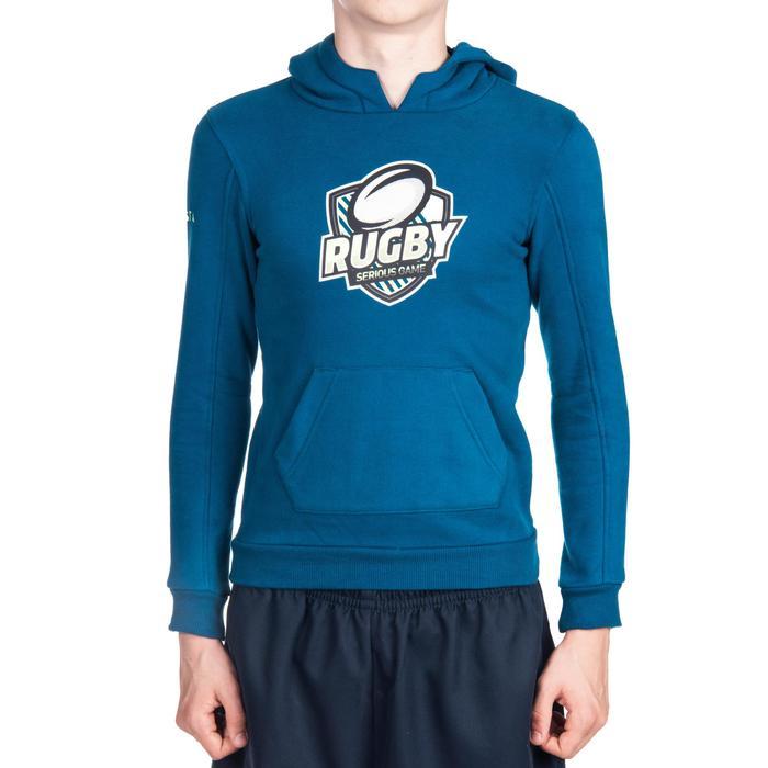 Rugby-Hoodie mit Kapuze Kinder