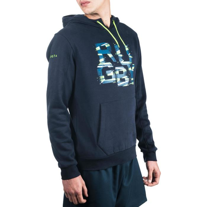 Sweat capuche (Hoodie) rugby 100 homme bleu