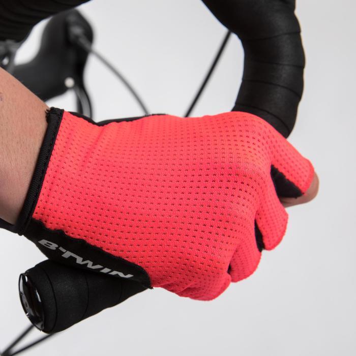 Gants Vélo ROADR 500 ROSE FLUO