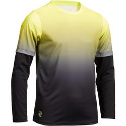 Thermisch T-shirt TH 500 voor jongens geel zwart