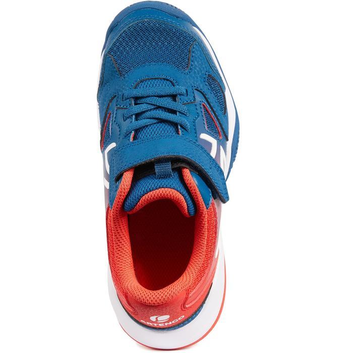 兒童款網球鞋TS560-藍紅配色