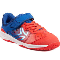 兒童款網球鞋TS160-藍色/紅色