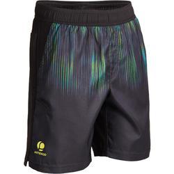 男孩款保暖運動短褲TH 500-黑綠配色