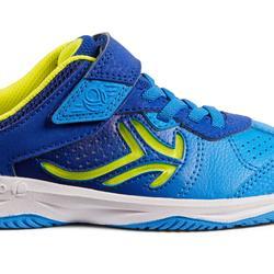 Tennisschuhe TS160 Kinder blau/gelb