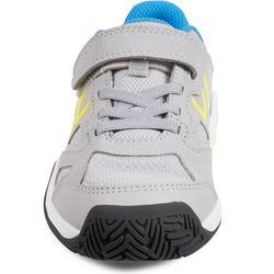 Tennisschuhe TS560 Turnschuhe Kinder grau/gelb