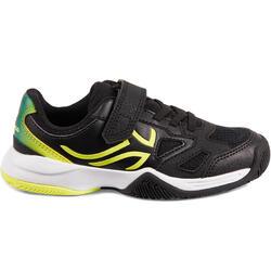 兒童款網球鞋TS560-黑色/黃色