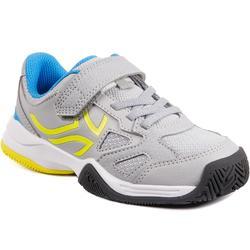 Tennisschoenen voor kinderen Artengo TS560 grijs geel