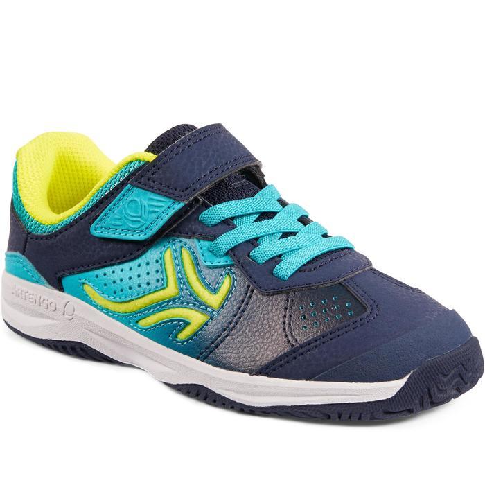 Tennisschuhe TS160 Turnschuhe Kinder blau/grün
