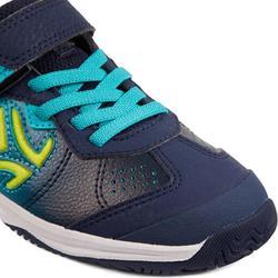 Tennisschuhe TS160 Kinder blau/grün
