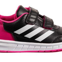 Tennisschoenen kinderen Adidas Altasport zwart/roze