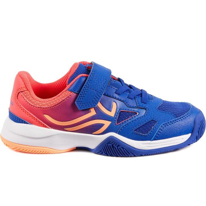 Tennisschoenen kinderen Artengo TS560 indigo/roze