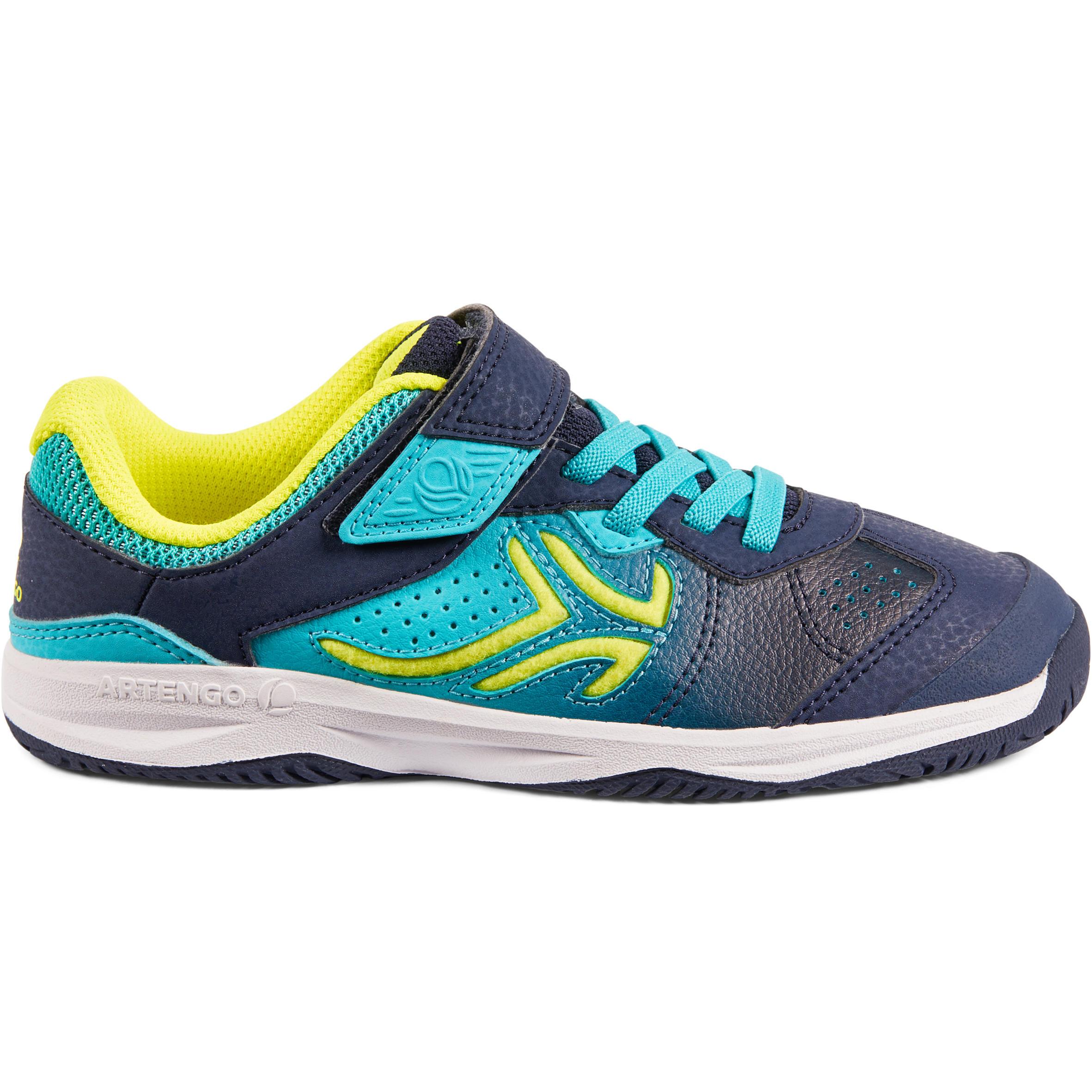 Artengo Tennisschoenen voor kinderen Artengo TS160 blauw/groen